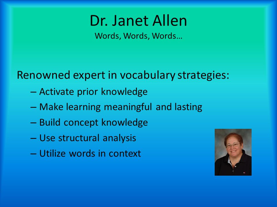 Best Practices in Vocabulary Instruction by Dr.Camille L.Z.