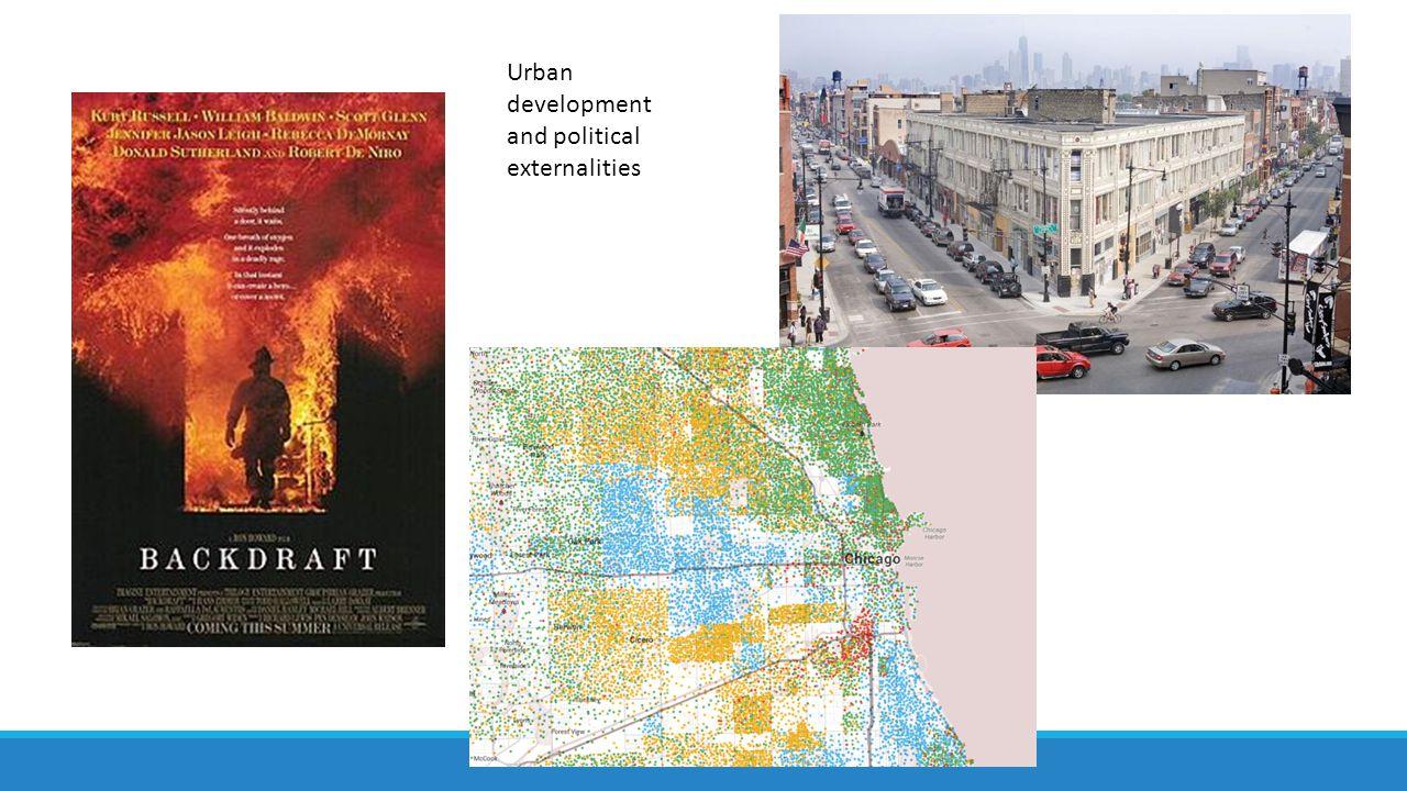 Urban development and political externalities