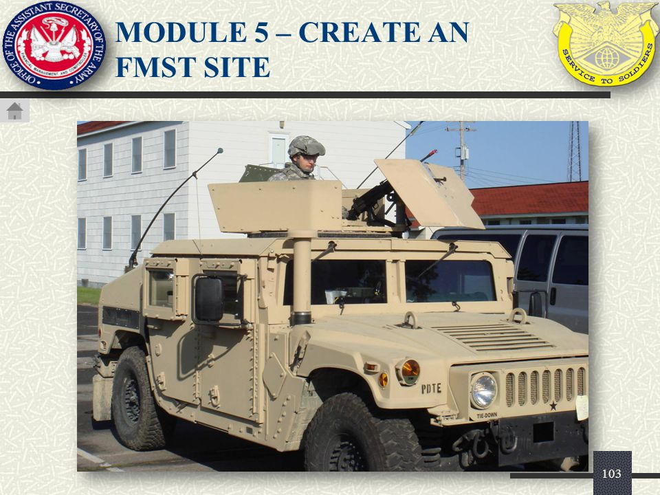 103 MODULE 5 – CREATE AN FMST SITE