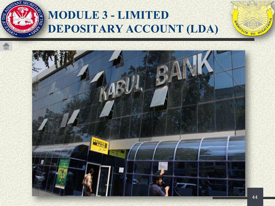 45 Add A Limited Depositary Checking Account (LDA) (1 of 4) LIMITED DEPOSITARY ACCOUNT (LDA)