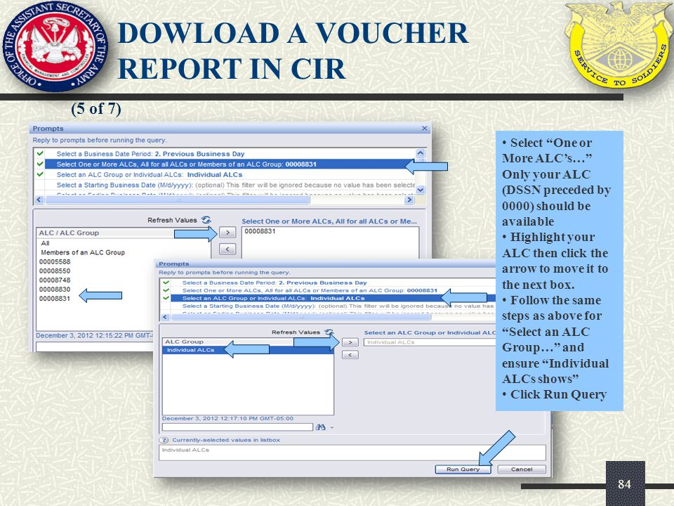 85 (6 of 7) Click on the debit voucher or deposit ticket you want to review DOWLOAD A VOUCHER REPORT IN CIR