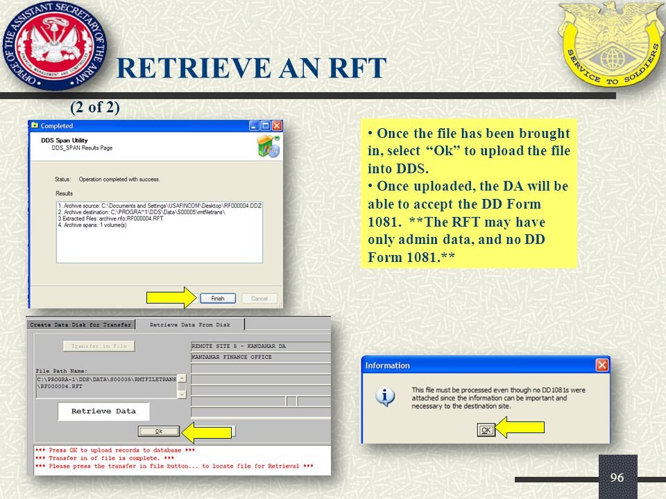 97 (1 of 2) The password is TEST01 and all other information should already be prefilled.