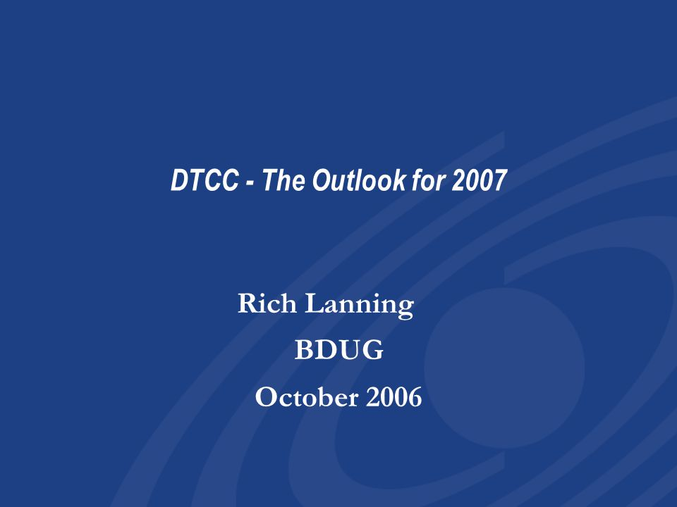 22 WTs Mid 2008: WT processing truncates to 2X a week Prepare to eliminate DMD processing 4Q 08: Sunset DMD functionality Mid 2008: WT processing truncates to 2X a week Prepare to eliminate DMD processing 4Q 08: Sunset DMD functionality
