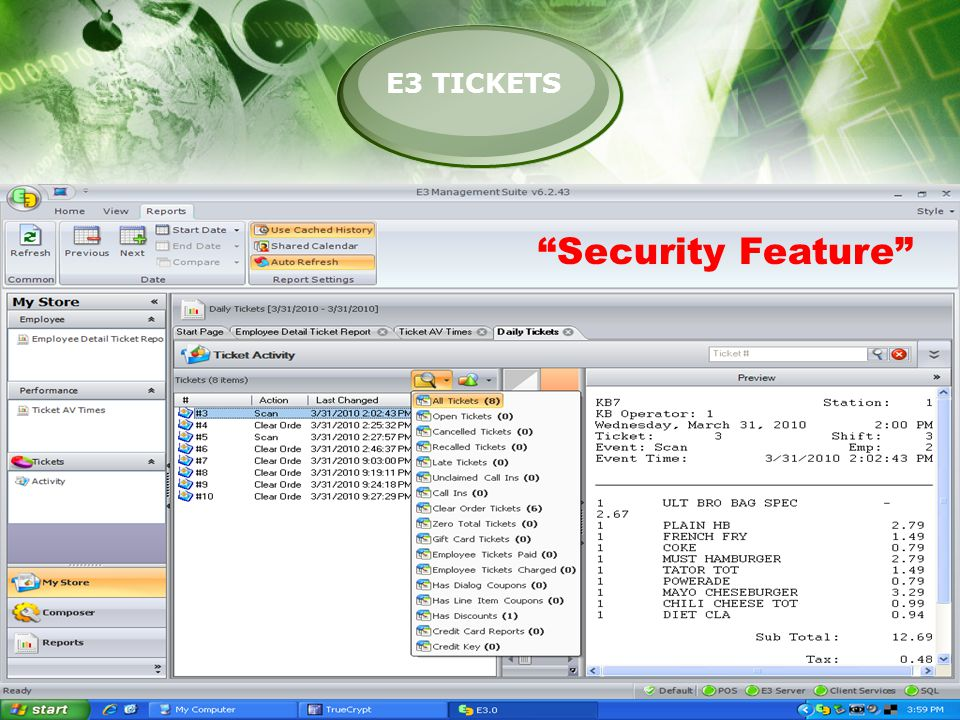E3 TICKETS Security Feature
