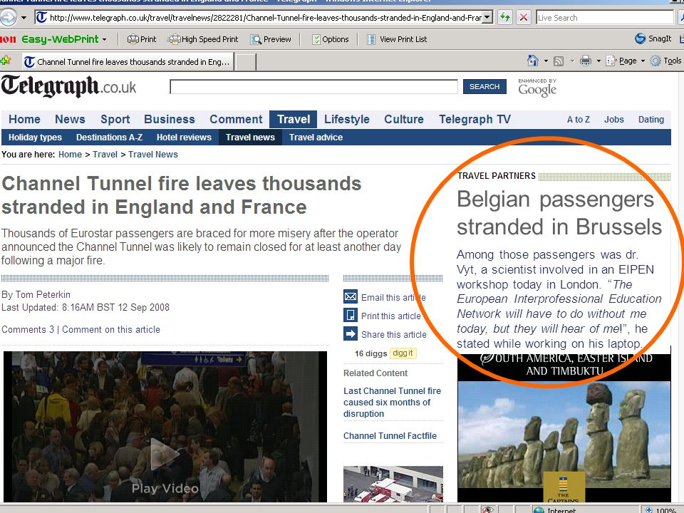 Belgian passengers stranded in Brussels Among those passengers was dr.