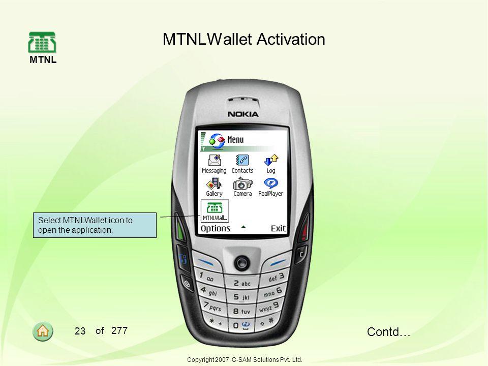 MTNL 23 of 277 Copyright 2007.C-SAM Solutions Pvt.