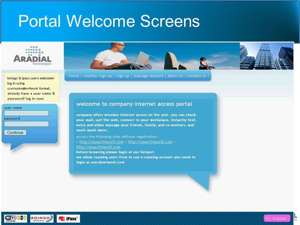 Portal Welcome Screens Portal