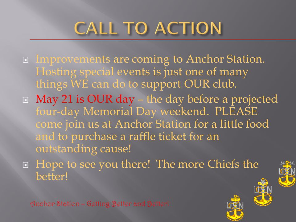Improvements are coming to Anchor Station.