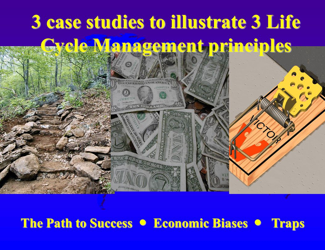 The Path to Success Economic Biases Traps The Path to Success Economic Biases Traps 3 case studies to illustrate 3 Life Cycle Management principles