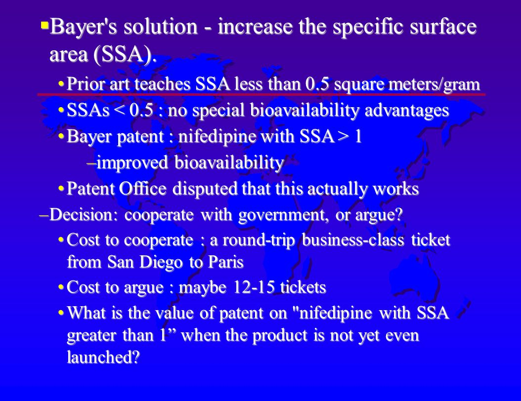 Bayer s solution - increase the specific surface area (SSA).