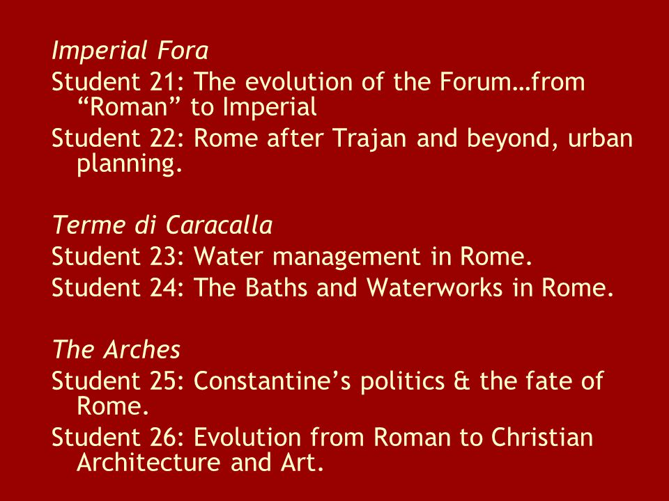 Early Christian Churches Student 25: Santa Maria Maggiore and the Christian basilica.