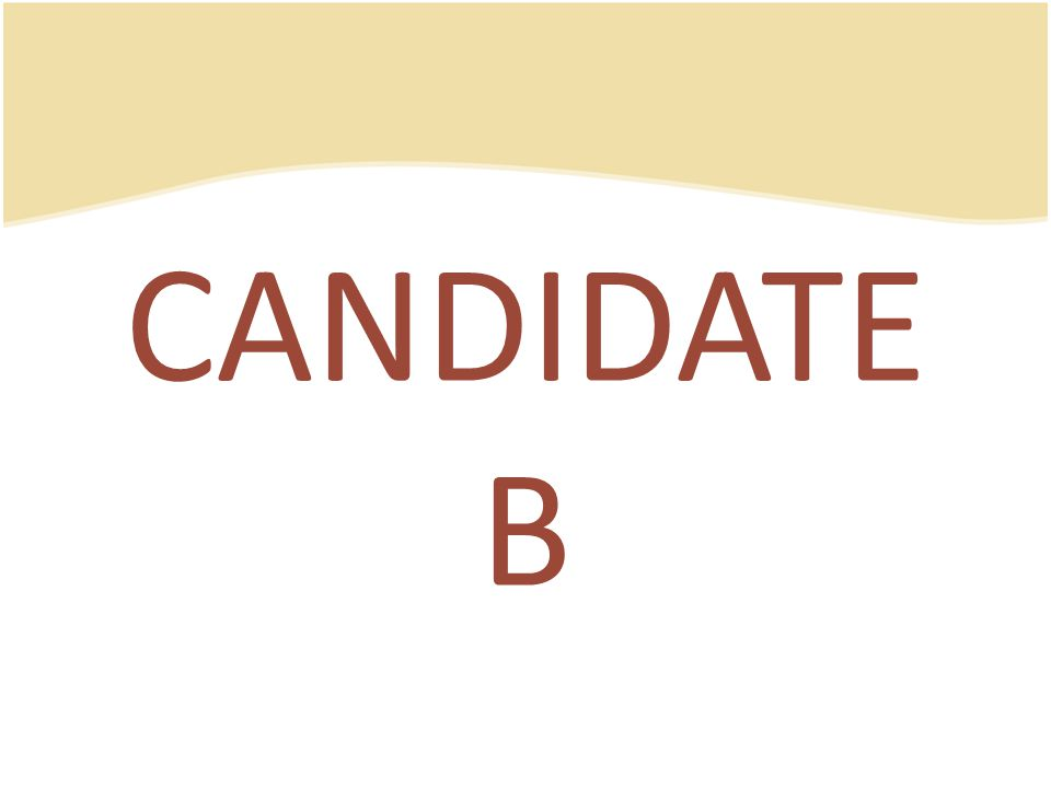 CANDIDATE B
