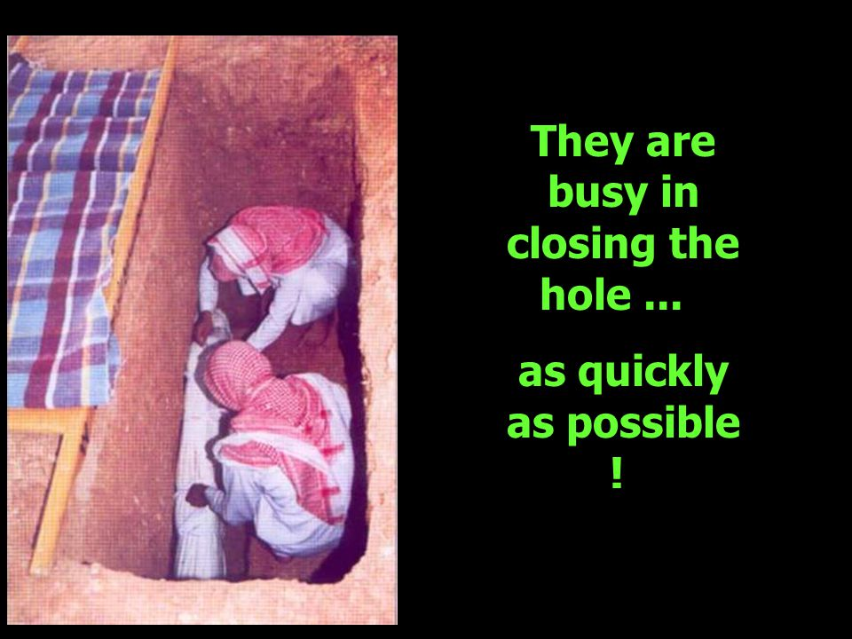 They are busy in closing the hole... as quickly as possible !
