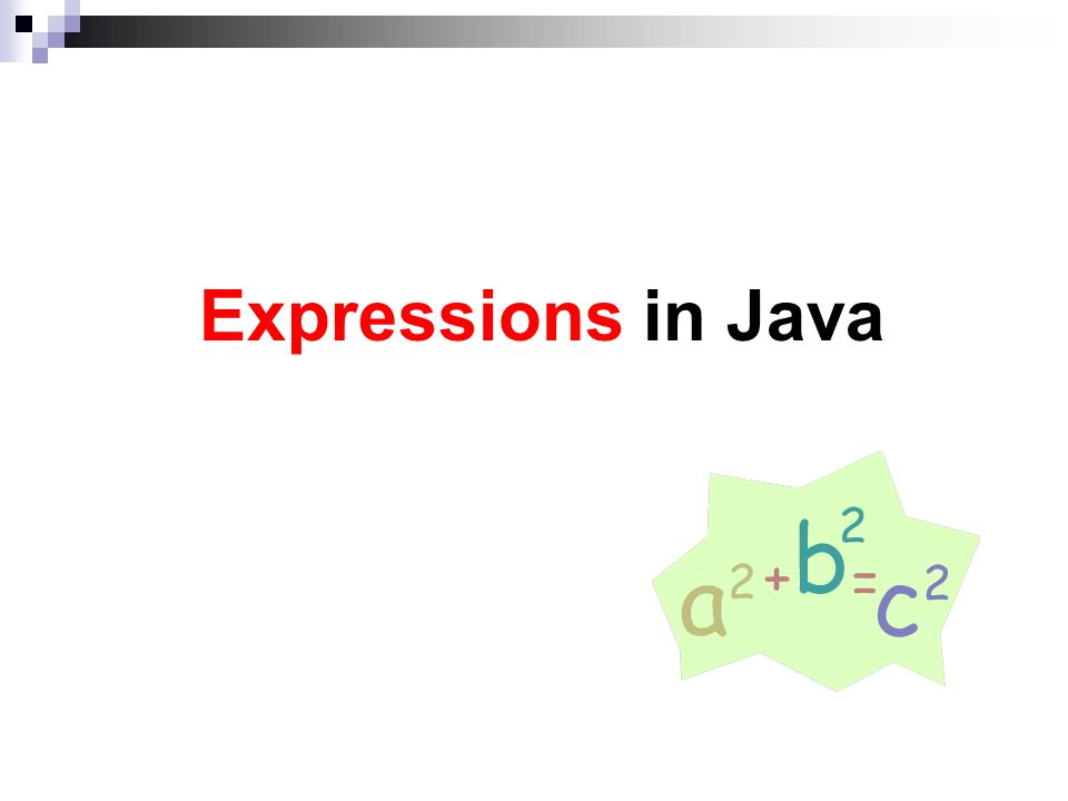 Expressions in Java