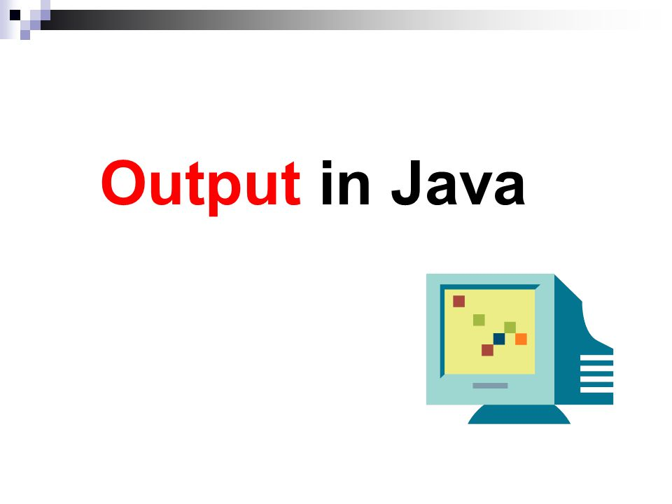Output in Java