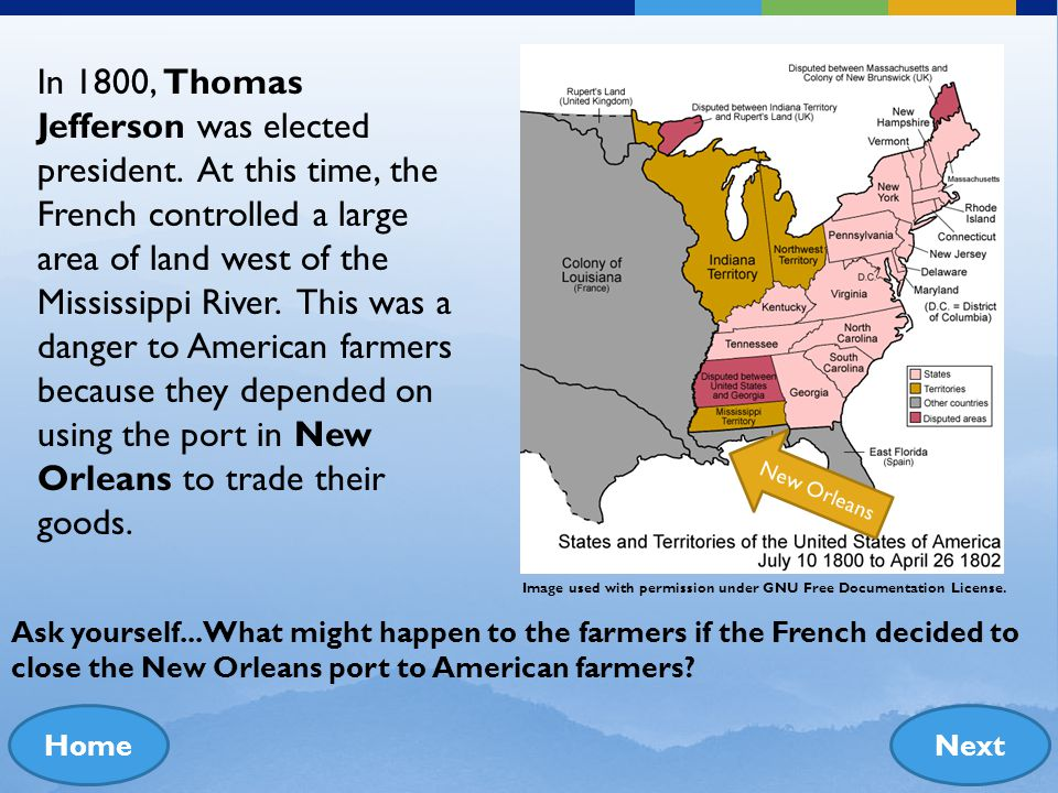 Louisiana Purchase Oregon Trail California Gold Rush The Mexican War In the late 1700s, many Americans felt that land in the east was too crowded. The