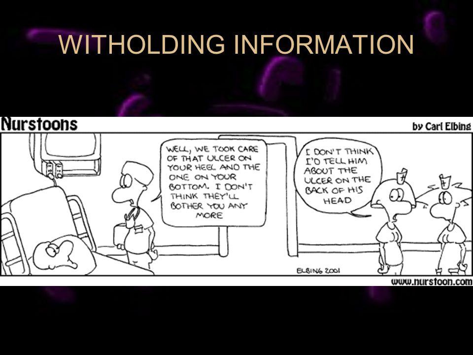 WITHOLDING INFORMATION