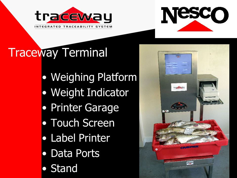 Weighing Platform Weight Indicator Printer Garage Touch Screen Label Printer Data Ports Stand Traceway Terminal