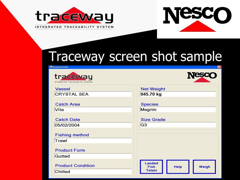 Traceway screen shot sample