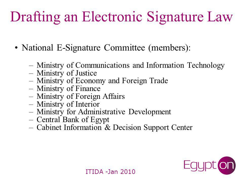 E-Signature Law -In 2004, law no.