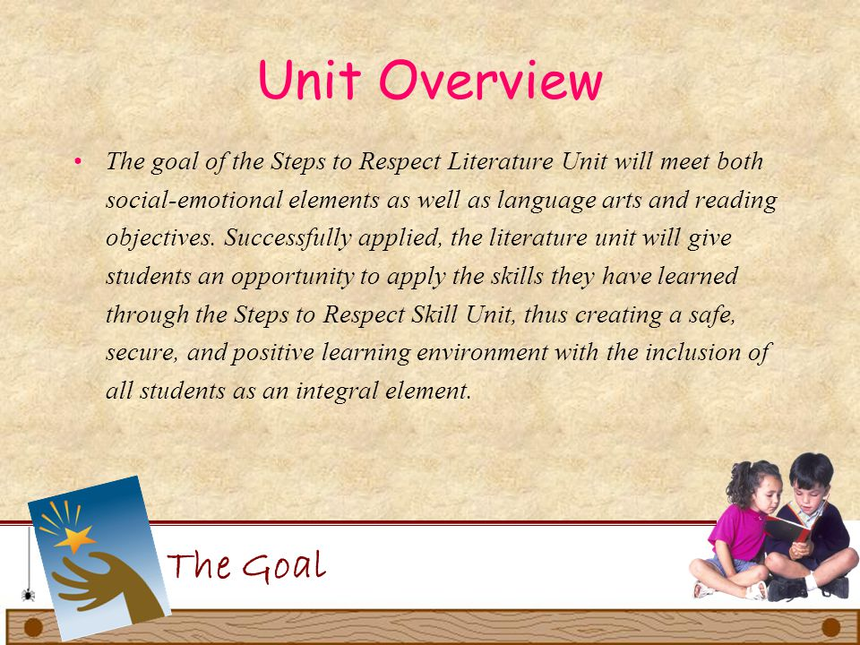 Unit Overview The unit will begin the first day of school and continue through the first quarter.