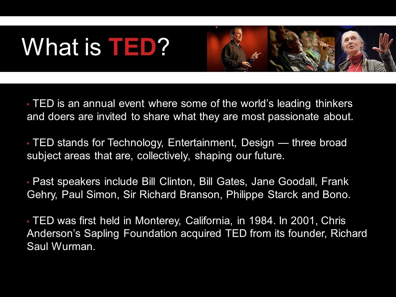 What is TED.