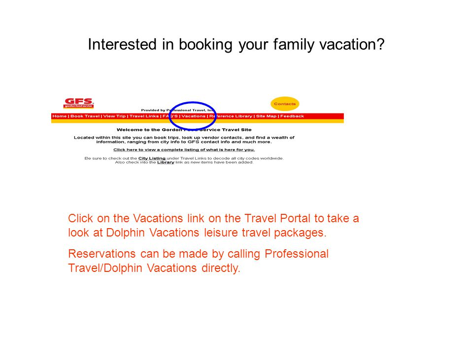 Interested in booking your family vacation.
