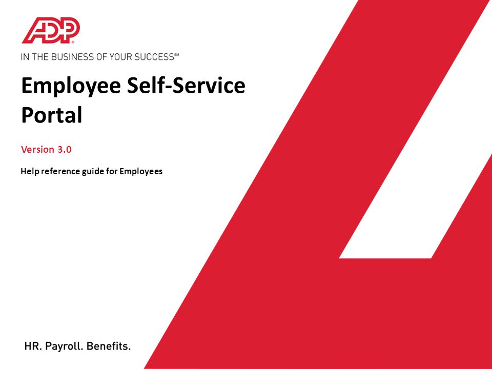 LOGIN PAGE To log on to the Employee Self-Service portal: In the Company box of the login page, type the name of your company.