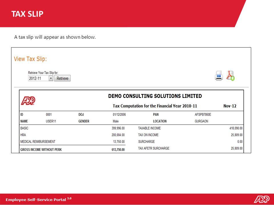 REIMBURSEMENT SLIP To view your reimbursement slip: 1.On the report tab, click Reimbursement Slip.