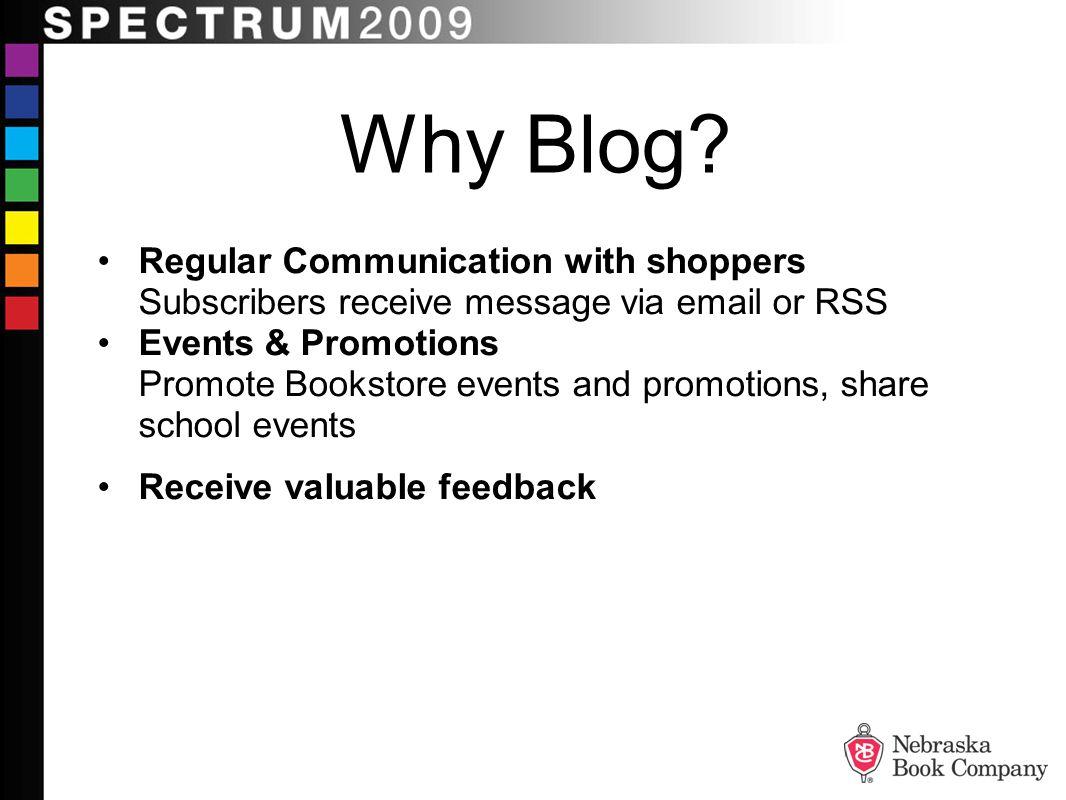 Why Blog.