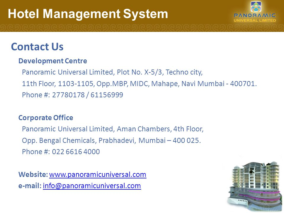 Development Centre Panoramic Universal Limited, Plot No.