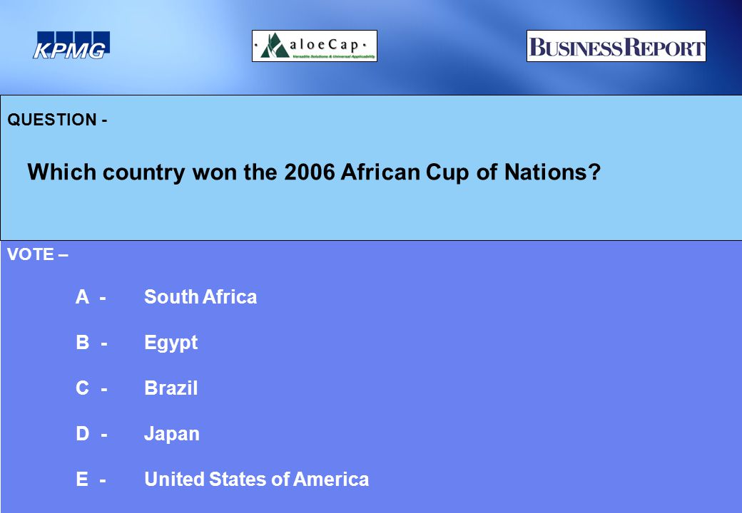 QUESTION - Which country won the 2006 African Cup of Nations.