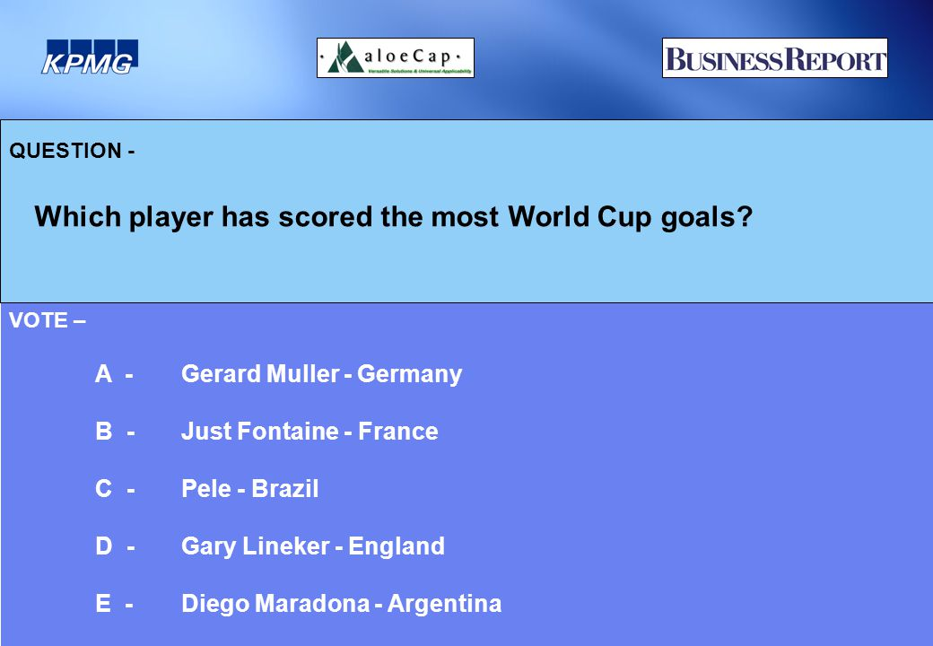 QUESTION - Which player has scored the most World Cup goals.