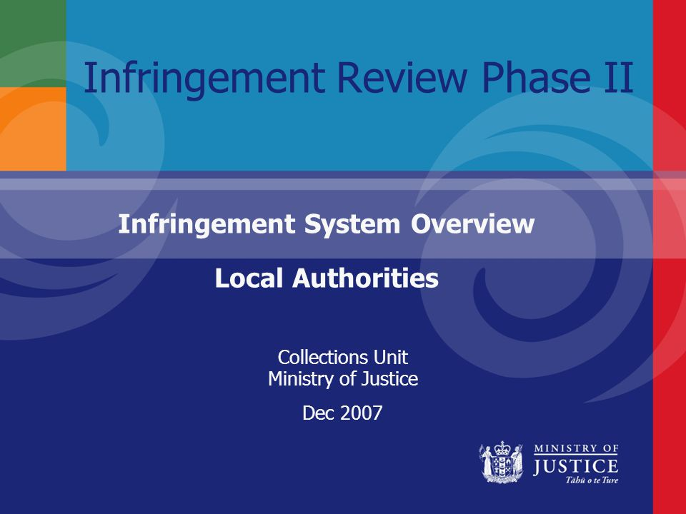 Infringement Review Phase II Infringement System Overview Local Authorities Collections Unit Ministry of Justice Dec 2007