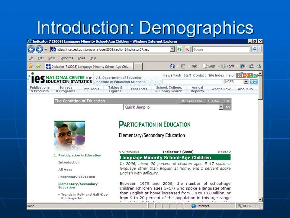 Introduction: Demographics