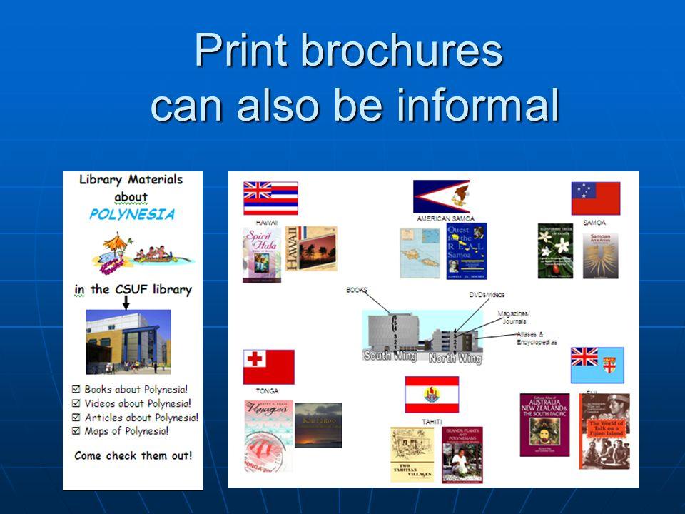 Circulation Circulation Print brochures Define unfamiliar terms.