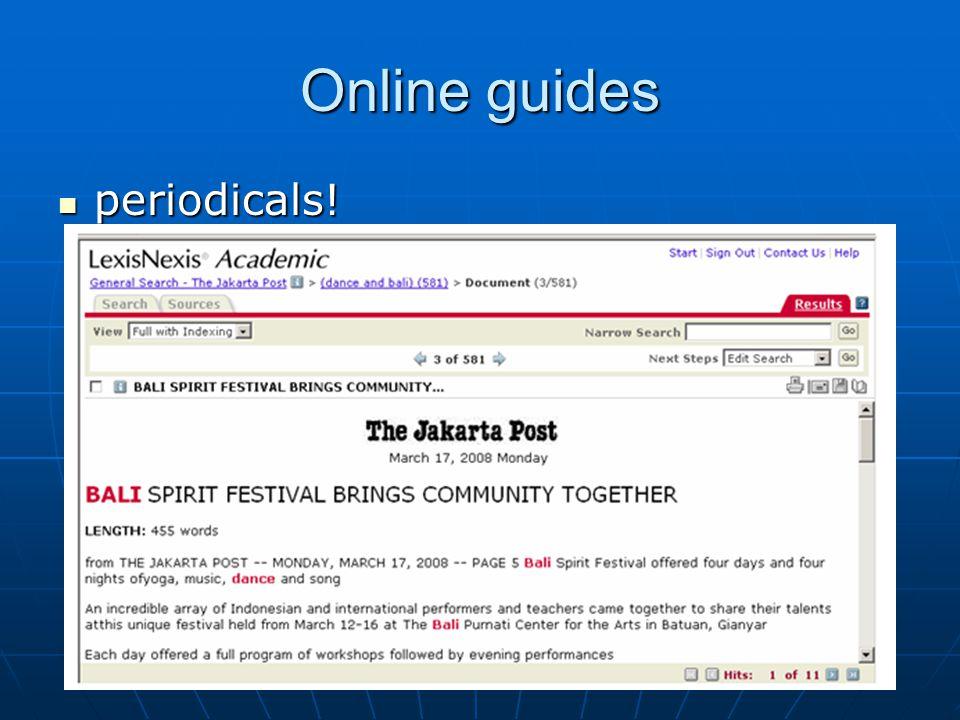 Online guides videos! videos!