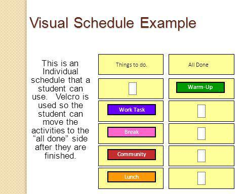 This is an Individual schedule that a student can use.