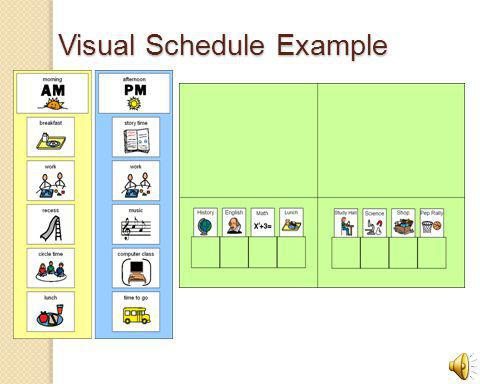 Visual Schedule Example