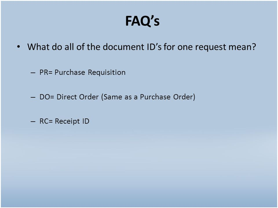 What do all of the document IDs for one request mean.