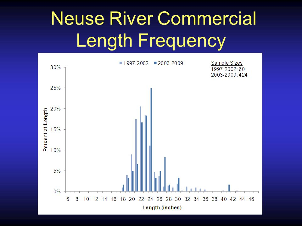 Neuse River Commercial Length Frequency