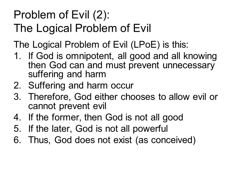 problem of evil essay questions 1983-3-8  problem of evil essay i john hick discusses in his essay the problem of evil forth new questions for many philosophers.