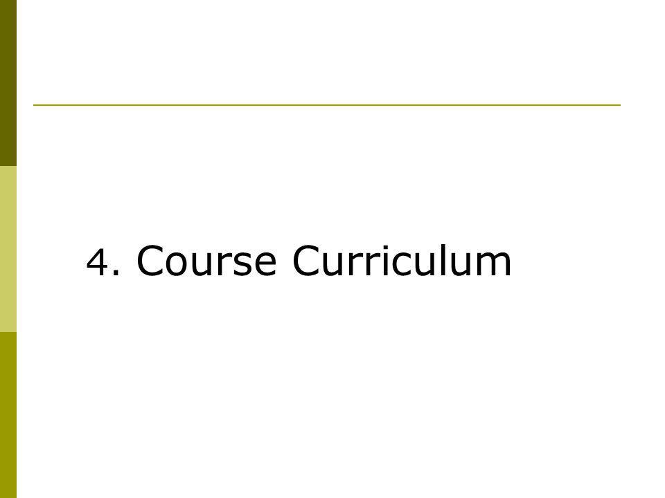 4. Course Curriculum