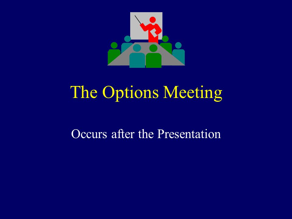 The Options Meeting Occurs after the Presentation