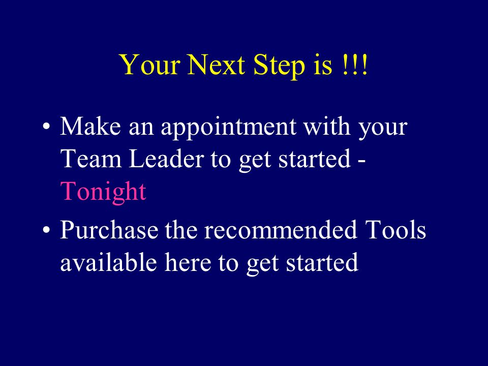 Your Next Step is !!.
