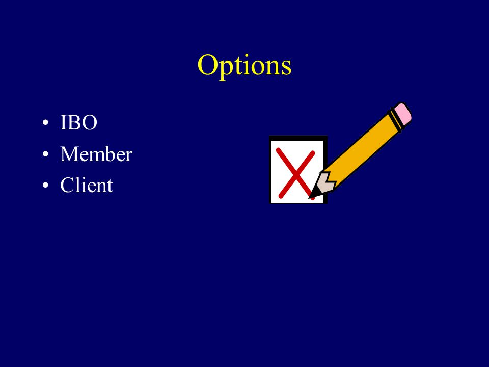 Options IBO Member Client