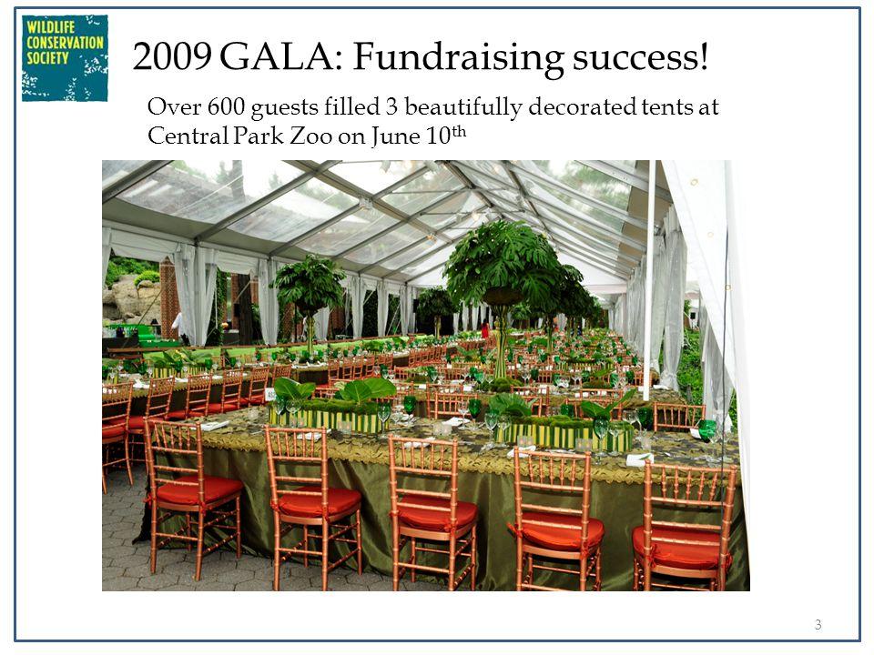 4 2009 GALA: Fundraising success.