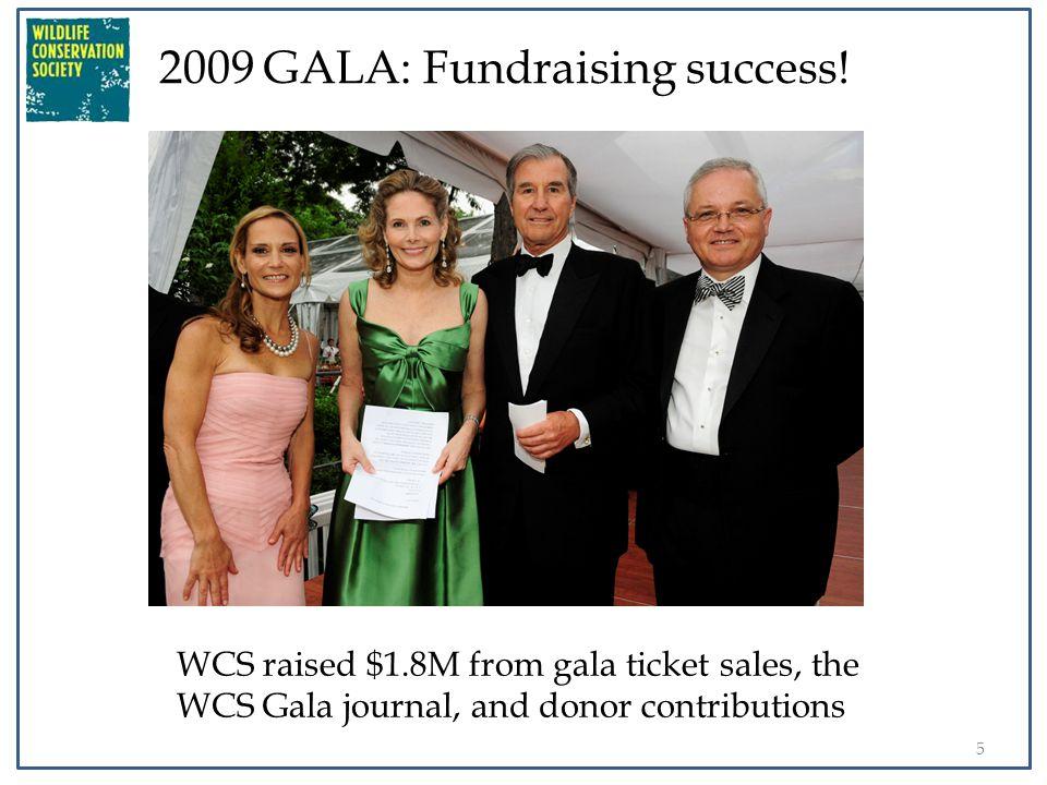 6 2009 GALA: Fundraising success! Thank you!