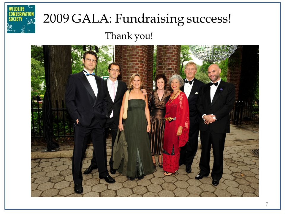 7 2009 GALA: Fundraising success! Thank you!