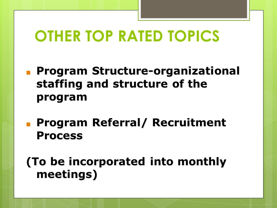 Program Structure-organizational staffing and structure of the program Program Structure-organizational staffing and structure of the program Program